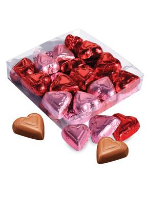 Milk Chocolate Red & Pink Hearts Gift Box