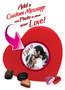 Heart Box of Gourmet Chocolates - Custom Label