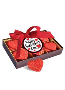 Valentine's Day Heart Sugar Cookie Box