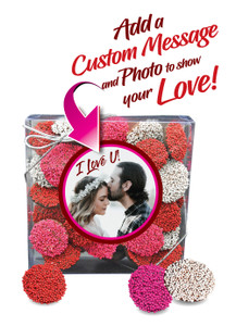 Valentine's Day Chocolate Nonpareil Gifts - Clear Box