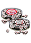 Valentine's Day Peppermint Dark Chocolate Nonpareils - Flat Clear Canister