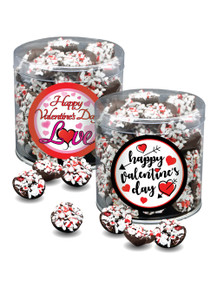 Valentine's Day Peppermint Dark Chocolate Nonpareils