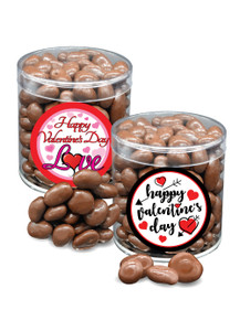 Valentine's Day Colossal Chocolate Raisins - Wide Canister