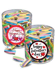 Valentine's Day Creme Filled Licorice Twisters - Wide Canister