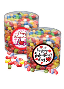 Valentine's Day Fruit Bowl Jelly Beans - Wide Canister