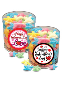 Valentine's Day Starfish Gummy Candy - Wide Canister