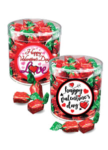 Valentine's Day Strawberry Soft-filled Hard Candy - Wide Canister