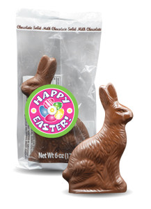 Easter Bunny Solid Milk Chocolate - Medium