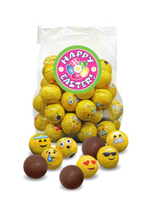 Easter Emoji Foil Chocolate Balls