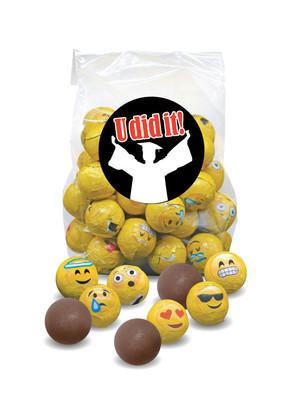 Graduation Emoji Chocolate Balls
