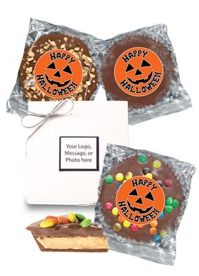 Halloween Peanut Butter Candy Pies