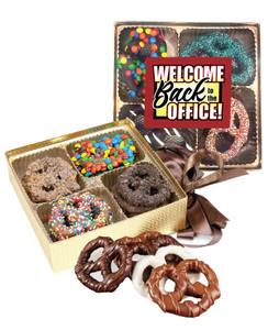 Back to the Office Chocolate Pretzel 16pc Gift Box