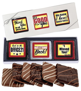 Back to the Office 6pc Chocolate Graham Box