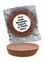 """Peanut Butter Plain Chocolate Candy Pies - """"Your Message Here"""""""