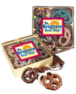 Brighten Your Day Chocolate Pretzel 16pc Gift Box