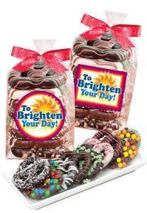 Brighten Your Day Chocolate Pretzel 8pc Bag