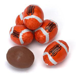 Solid Milk Chocolate Footballs
