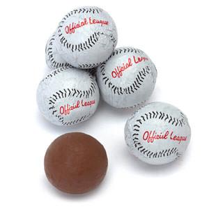 Solid Milk Chocolate Baseballs
