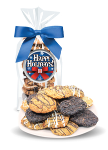Happy Holidays Crispy & Chewy Artisan Cookie Bag
