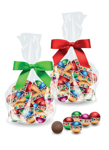 Christmas Ornaments Solid Milk Chocolate - Favor Bags