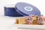 Joeyjoy Raspberry Filled Sandwich Butter Cookies in Custom Tin