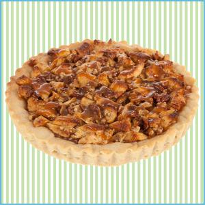 Apple Caramel Cookie Pie