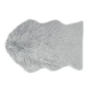 Country Club Faux Fur Rug, Grey