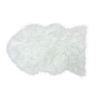 Country Club Faux Fur Rug, White