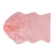 Country Club Faux Fur Rug, Pink