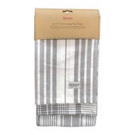 Love Colour Jumbo Tea Towels, Slate Grey, Pack of 3