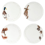 Wrendale Designs Set of 4 Coupe Dinner Plates