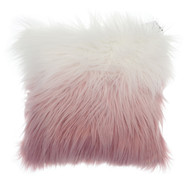 Country Club Long Pile Cushion, Pink Ombre
