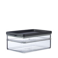 Mepal Omnia Breakfast Duo Layer Storage Box, Nordic Black