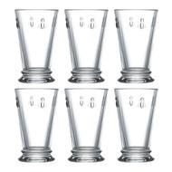 La Rochere Set of 6 Bee Long Drink Glasses, 31cl