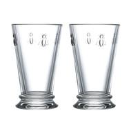 La Rochere Set of 2 Bee Long Drink Glasses, 31cl