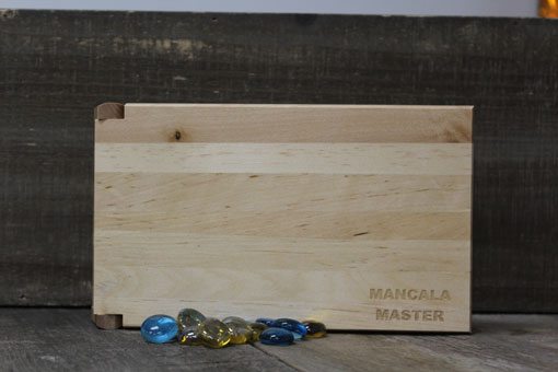 personalized mancala game board and marbles