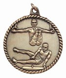 Gymnastics High Relief Medal - Male