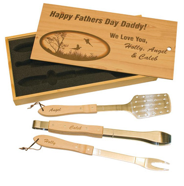 Maple BBQ Gift Set W/ slide lid