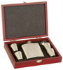 Stainless Steel Flask w/ Wood Presentation Box