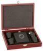 Matte Black Flask Set w/ Wood Presentation Box