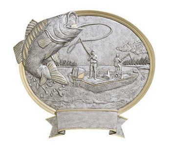 Bass Fishing Oval Resin
