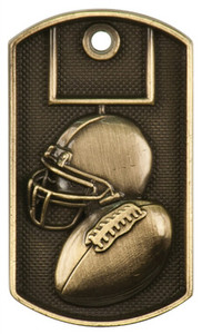Football 3-D Dog Tag