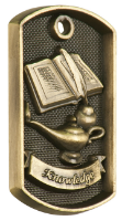 Lamp of Knowledge 3-D Dog Tag