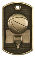 Basketball 3-D Dog Tag