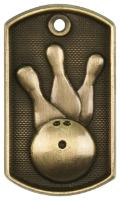 Bowling 3-D Dog Tag