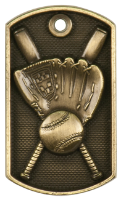 Softball 3-D Dog Tag