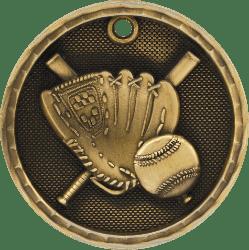 Baseball 3-D Medal