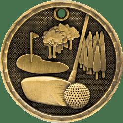 Golf 3-D Medal