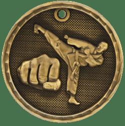 Martial Arts 3-D Medal