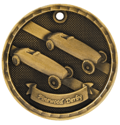 Pinewood Derby 3-D Medal